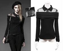 Pull chemise haut gothique punk lolita fashion épingles glam rock hiver PunkRave