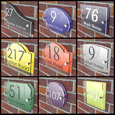 Número Casa Placas Letrero Puerta Color Vibrante Parte Trasera Acrílico Nombre