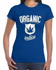 Organic Indica Marijuana Cannabis Women's T-Shirt - Weed Hydroponics Stoner
