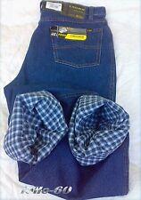 Jeans uomo termico imbottito 46/62 pantalone foderato tela felpata caldo inverno