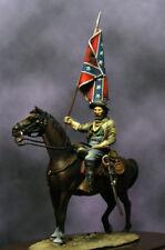 Beneito Confederate Mounted Standard Bearer 54mm Model Unpainted Kit