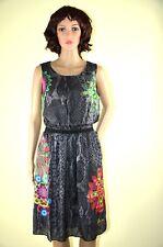 DESIGUAL Kleid *VEST_PRETTY* chocolate   ärmellos  bunte Motive Sommer