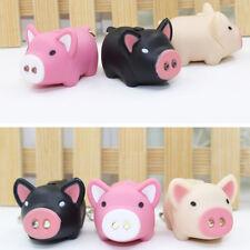 Mini Pig/Penguin Keyring Dual LED Flashlight Keychain Business Couple Gift