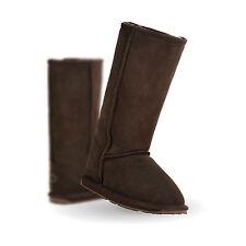 NIB EMU Australia Girl's Wallaby Hi Merino Wool Boot in Chocolate Brown