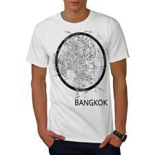 Wellcoda Thailand Bangkok Map Mens T-shirt, Big Graphic Design Printed Tee