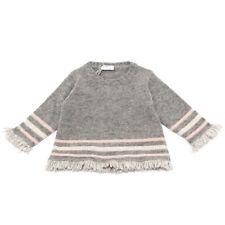 3919V maglione bimba IL GUFO lana grey wool sweater girl kid