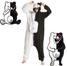 Unisex Cosplay Monokuma Kostüm Onesie Tier Pyjama Nachtwäsche Kigurumi Adults