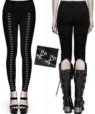 Pantalon leggings gothique lolita burlesque lingerie agrafes argent Punkrave