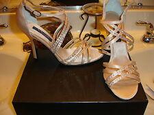 Nina Crysten Gold Royal Satin Heel Bridal Holiday Shoe Wedding Prom 8.5 $100