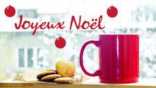 * 1 Sticker Joyeux Noël + Boules pour fenêtre ou vitrine  35cm ou 50cm
