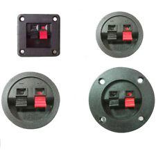 Speaker square round cup 2-terminal binding audio socket terminal block E&F