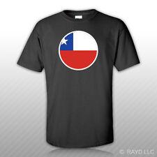 Round Chilean Flag T-Shirt Tee Shirt Free Sticker Chile CHL CL