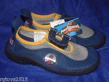 Power Rangers Dino Thunder Red Ranger Aqua Water Shoes New XL 2-3 Blue w Yellow