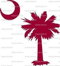 South Carolina Palmetto Tree vinyl decal/sticker state moon window laptop