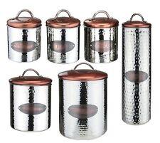 Vintage Copper Tea Coffee Sugar Bread Bin Biscuits Kitchen Storage Jars Canister