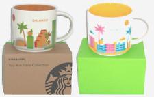 Starbucks Orlando Florida Coffee Mug Dolphins Palm Tree 2013 You Are Here