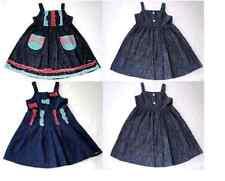 NEW GIRLS CHILDS PRETTY NAVY DENIM PINAFORE DRESS OSH KOSH AGE 4 yrs 100% COTTON