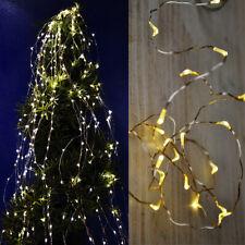 LED Lichterkette Drahtbeleuchtung Silberdraht Ledkette Deko biegsam Tropfen
