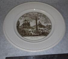 Piazza Del Popolo Scenes Piranesi Plates Wedgwood China Plate