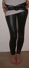 Ankle Length Leggings WET LEATHER LOOK LEGGINGS SIZE 20 22 24 26 XL Plus Curve