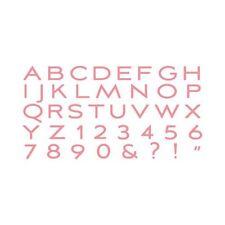 "Quickutz/Lifestyle Crafts 4x8-JACQUELI-M   ""Jacqueline"" All in one Alphabet Set"