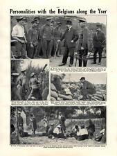 1915 YPRES è morto Emile vandervelde generale Jaques lungo Yser
