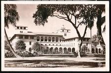 Honolulu Hi Us Post Office & Federal Building Vintage Rppc Postcard Old Hawaii