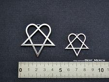 Him Necklace stainless steel Heartagram Pendant merch logo symbol