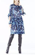 NWT 389 BCBG MAXAZRIA DRESS JEANNIE BLUE NAVY PRINT XXS XS S M L 0 2 4 6 8 10 12