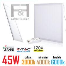pannello led 60x60 120x30 cm slim incasso cornice bianca 45W 150W 3000 4000 6000