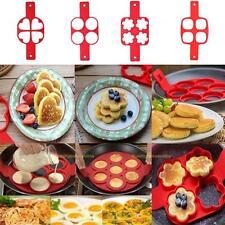 Pancake Maker Eier Ring Kuchenform Former Pfannkuchen Fantastic Antihaft 4 Loch