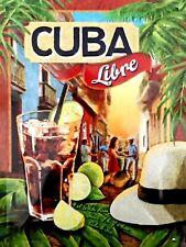 Cuba Libre, Retro vintage style metal tin sign gift Home Decor Pub
