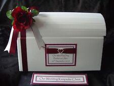 Personalised Rose Post Chest Card Box Wedding Engagement Birthdays