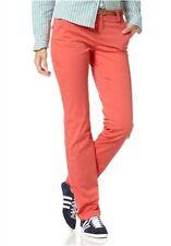 Flashlights Pantalones Chinos con Cinturón K Gr.17 21 Nuevo Mujer Rojo  Naranja 0392315224bd