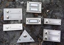 Klingel Klingeltaster Klingelknopf Klingelplatte Metall beleuchtet LED - Auswahl