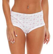 6 Pack Femme PASSIONELLE Côtelé Pastel Coton Full Slips Taille Haute pour le confort