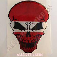 Sticker Flag Latvia Skull Adhesive Decal Resin Domed Car Moto Tablet 3D