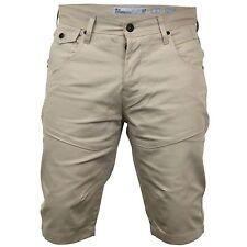 Mens Crosshatch Chino Shorts - Amalga White Pepper