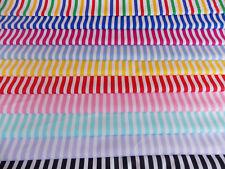 100% Cotton Poplin Fabric Stripe Stripe size 8mm