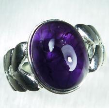 6.55ct Natural dark purple Amethyst 925 silver 9ct 14k 18k Gold Platinum ring