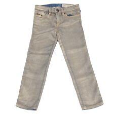 7123S jeans bimba DIESEL blu/oro lucido pantalone skinny pant trouser kid