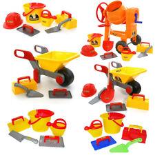 WADER Maurerset Maurer und Kinderwerkzeug Baustellenwerkzeug Werkzeug Schubkarre