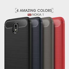 Housse etui coque silicone gel carbone pour Nokia 1 + verre trempe