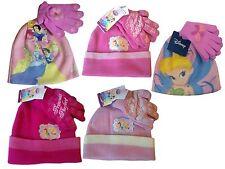Cartoon Disney Princess Ski Beanie Hat & Glove Set Cinderella Tiana & Belle