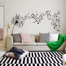 Music Note Flower Dandelion Wall Sticker Inspiration Vinyl Baby Room Art Decor