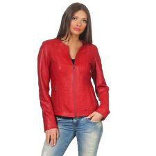 Hollert Women's Leather Jacket Pati Biker Jacket Lamb Nappa Real Leather Jacket