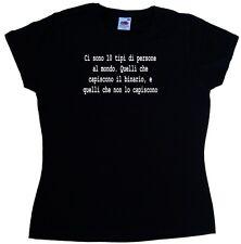 Ci sono 10 tipi di persone al Maglietta Donna Simpatica