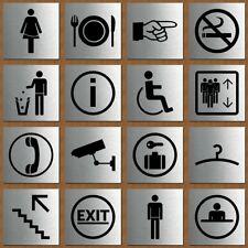 Schild Türschild Edelstahl Design Piktogramm - WC Damen Herren Rauchverbot Info