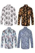 Paisley Blumen Herren Vintage Regular Fit Casual Mod Hemd Indie S-4XL