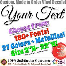 Custom Lettering Vinyl Decal Name Car Truck Auto Boat Jeep Window Glass Sticker
